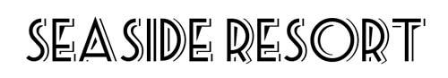 100 tipografias estilo 3d - seaside-resort