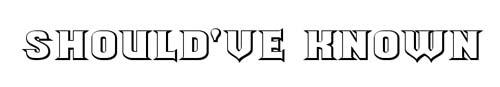 100 tipografias estilo 3d - shouldve-known