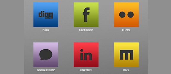 sleek social icons