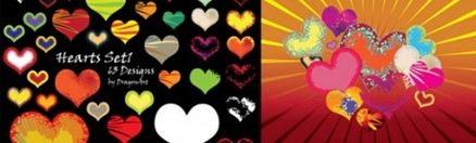 vectores del día de los enamorados vector-hearts-set