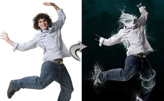 30 tutoriales photoshop -  - water-photo-effect-montage-photoshop-tutorial