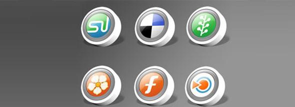 web dev social icons