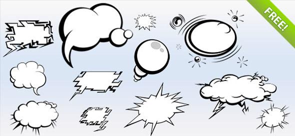 burbujas de dialogo en psd