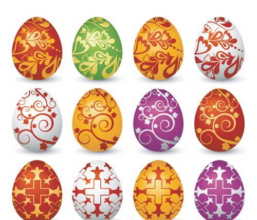 huevos de pascua vectorizados