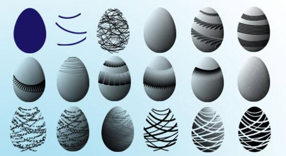 Pinceles huevos de pascua