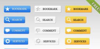 botones 2.0 en PSD