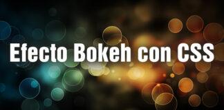 efecto Bokeh con css