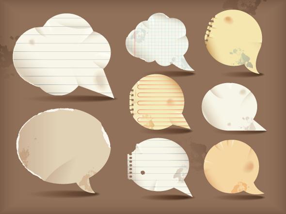 Burbujas de dialogo vectorizadas