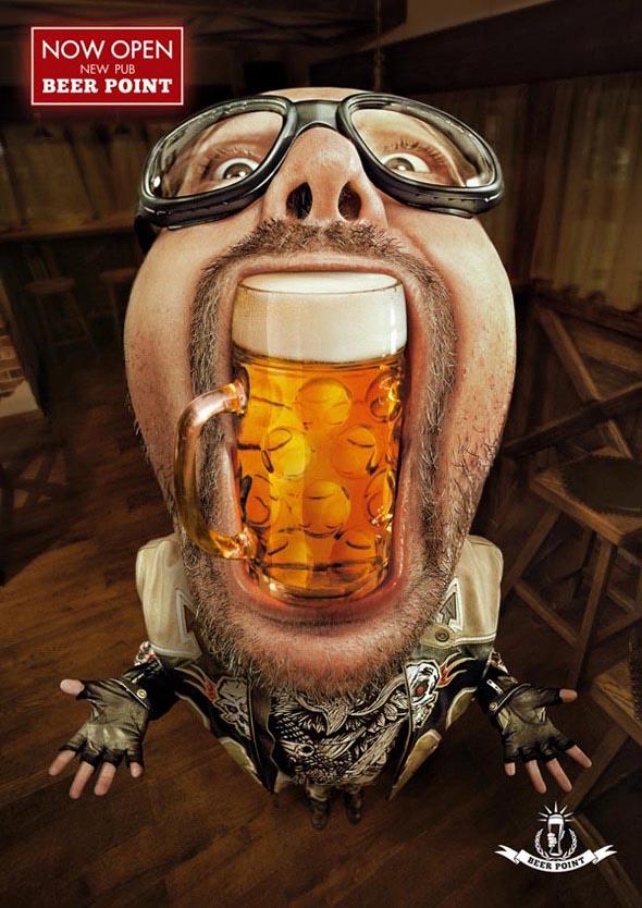 Publicidades creativas de bebidas