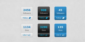 Social-Count-Buttons-Free-PSD