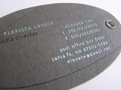 Tarjetas personales texturas y formas
