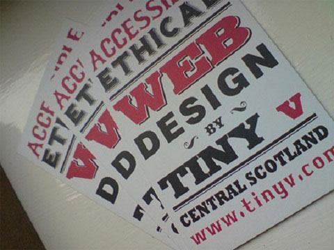 Tarjetas personales tipograficas