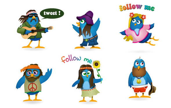 Woodstock-Twitter-Icons-set