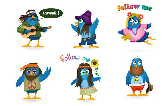 Woodstock-Twitter-Icons-set
