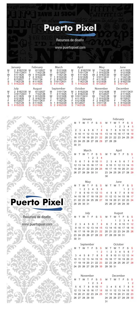 calendario-2012-vectorizado-y-personalizable