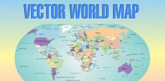 mapa mundial vectorizado division politica