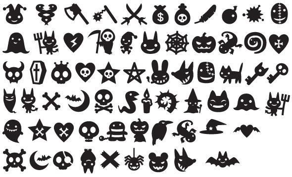 siluetas-de-halloween-en-vector
