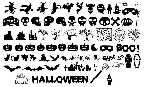 siluetas-de-halloween-vector