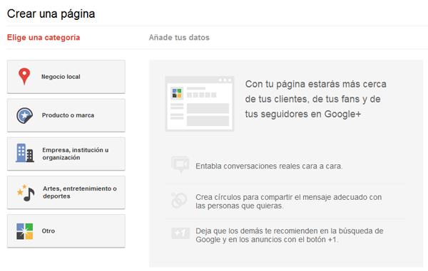Categoria-page-google+