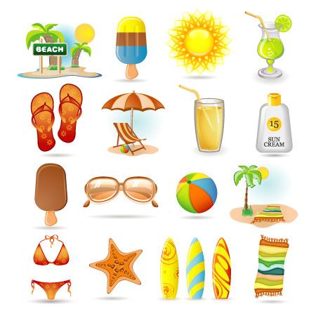 Iconos de verano