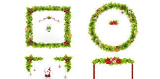 Ornamentos y marcos vectorizados navidad