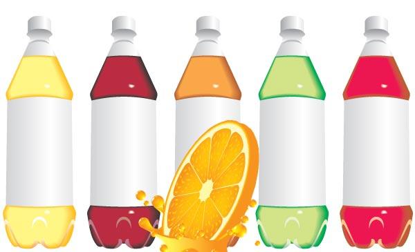 botellas-de-plastico-en-vector