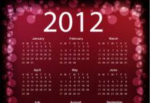 calendario 2012 vectorizado