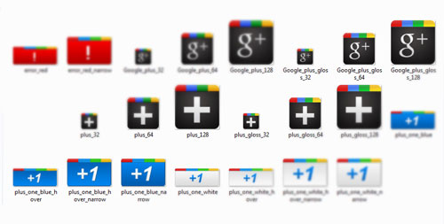 iconos google plus +1