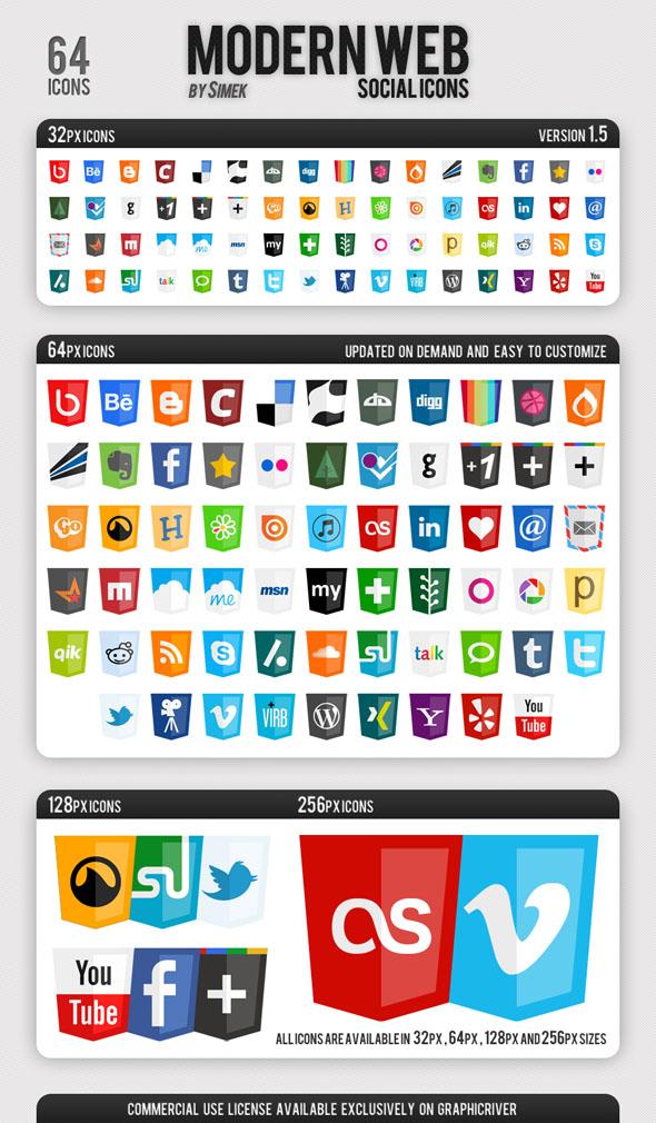 iconos sociales estilo html5