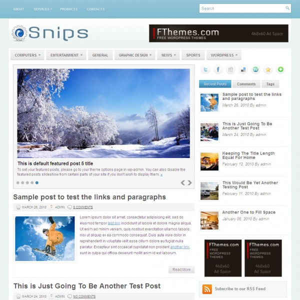 snips theme gratis wordpress