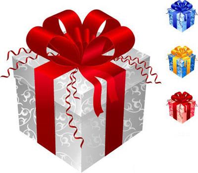 caja de regalos vectorizada