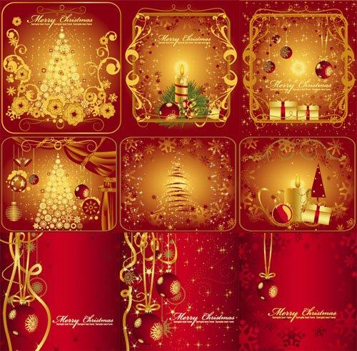 tarjetas de navidad vectorizadas