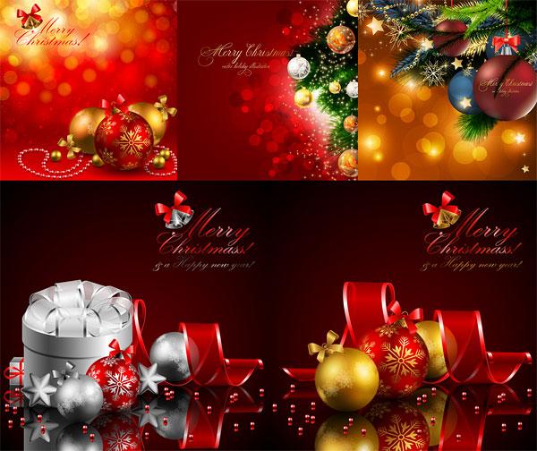 tarjetas vectorizadas de navidad