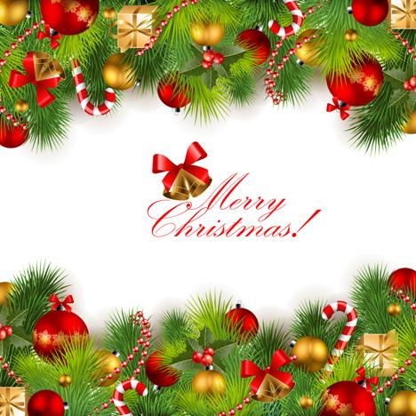 adornos de navidad vectorizados