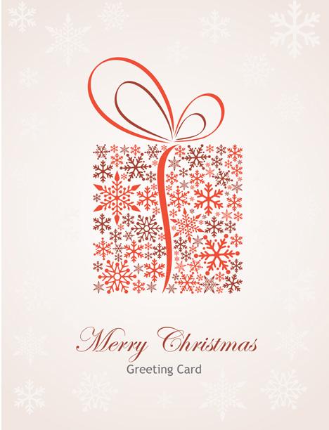 tarjeta de navidad vectorizada