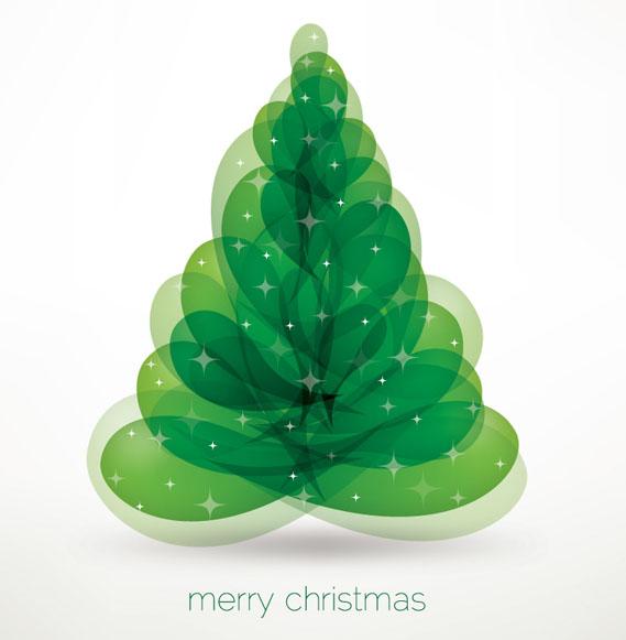 arbol de navidad vectorizado abstracto