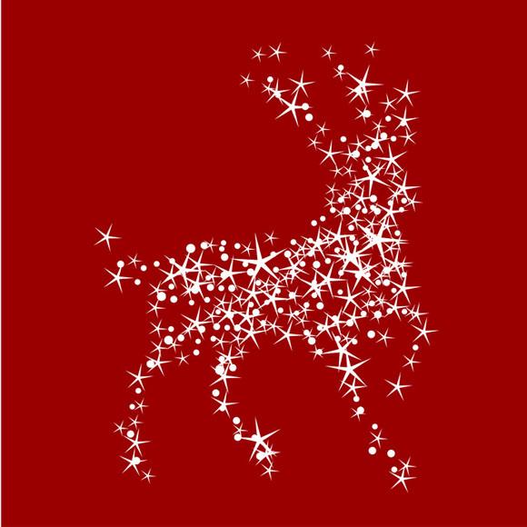 ciervo de navidad abstracto vectorizado