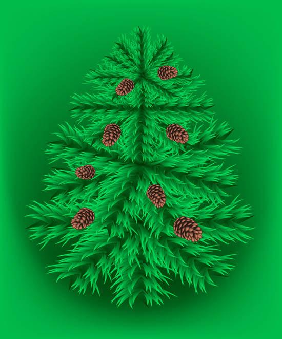 Arbol de navidad verde vectorizado