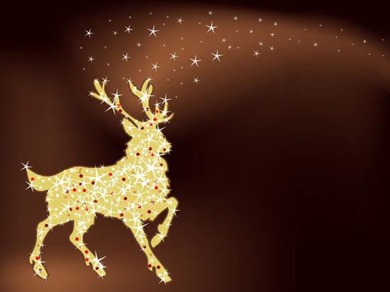 ciervo de navidad con estrellas