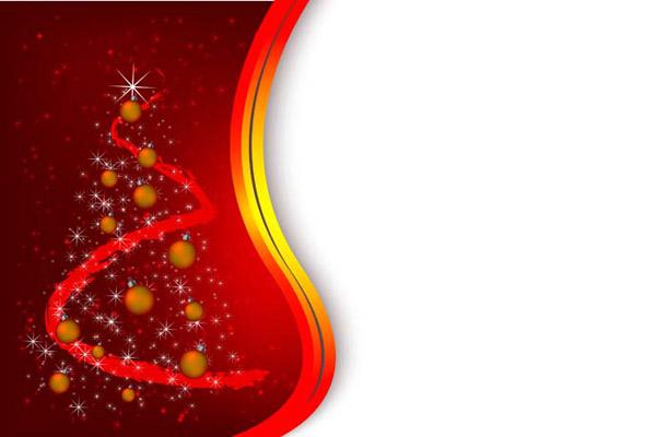 tarjeta de navidad roja vectorizada