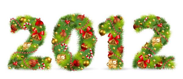numeros vectorizados de navidad