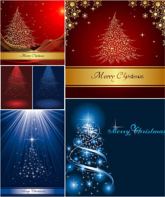 arboles de navidad vectorizados