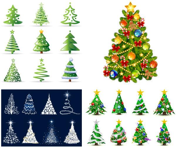 50 packs con vectores de navidad gratis - Arboles para navidad ...