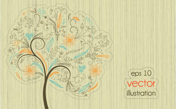 arboles vectorizados creativos abstractos