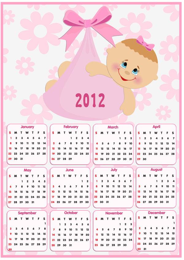 Calendario 2012 Infantil