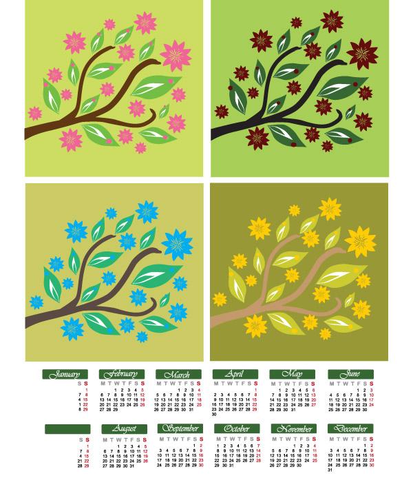 calendario 2012 vectorizado imprimir