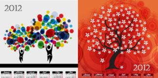 calendarios-2012-imprimir-vectorizados