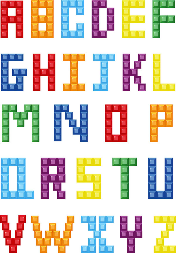 abecedario vectorizado lego