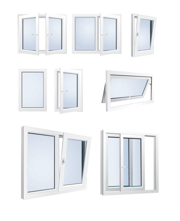 Ventanas de aluminio vectorizadas for Ventana balcon medidas