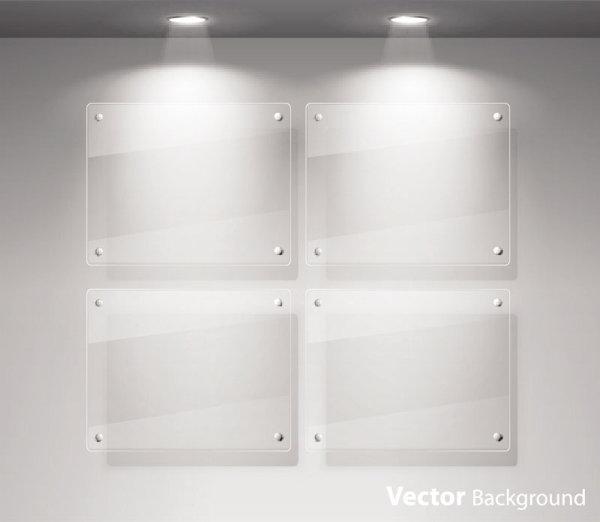 carteles de vidrio iluminado